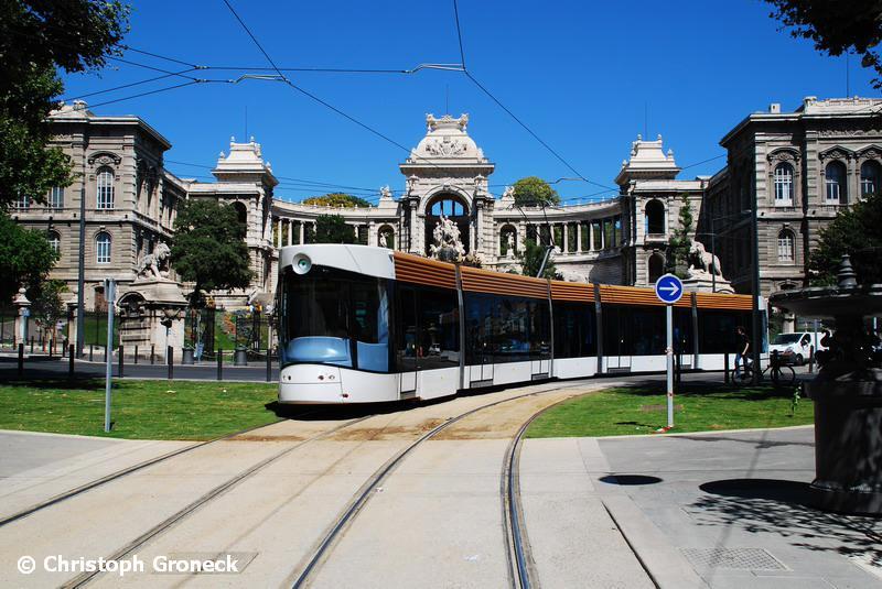Tramway Marseille Palais-Longchamps